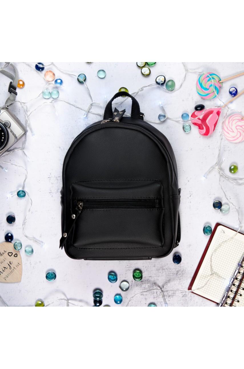 Рюкзак жіночий SamBag екошкіра - Talari SD, чорний