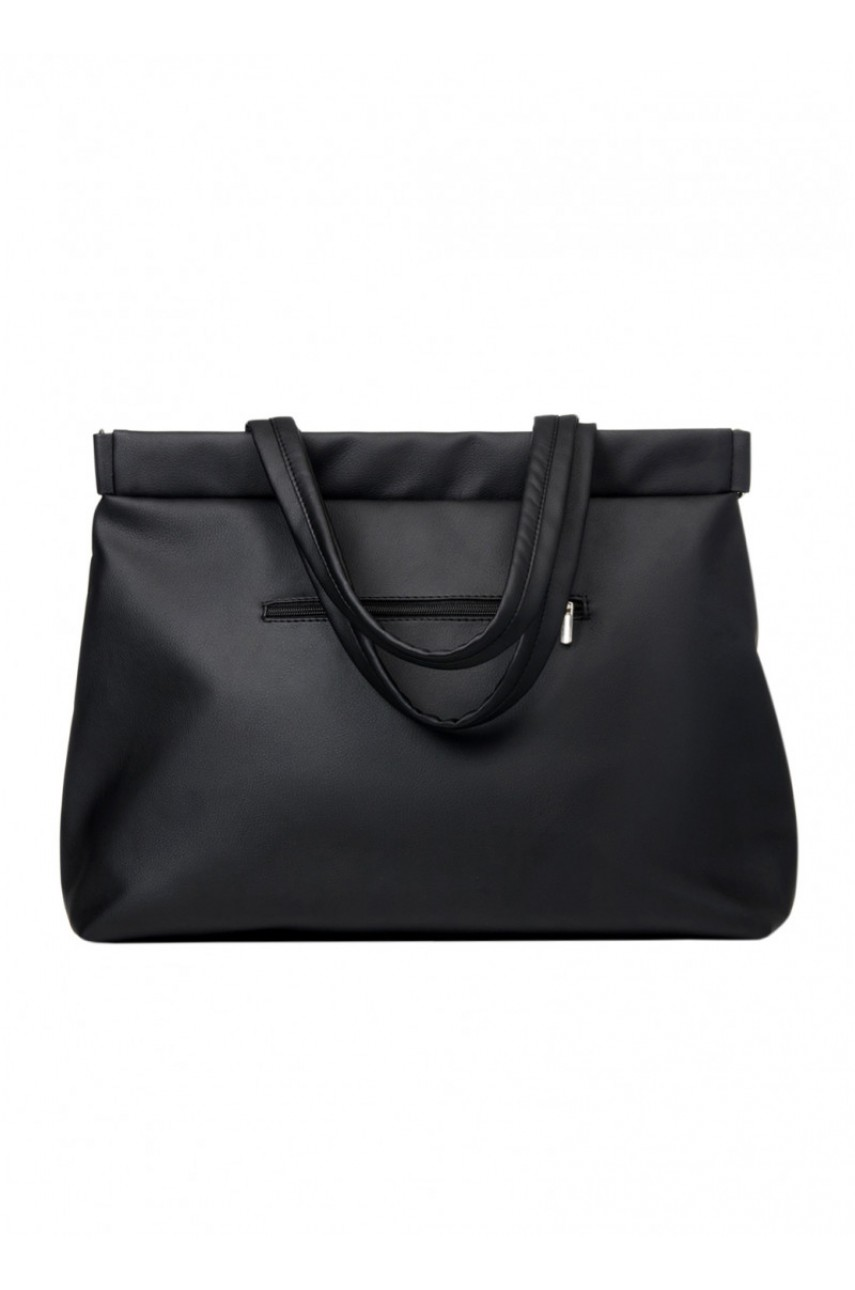 Сумка шопер Sambag - Shopper Tote QRS, чорна, біла