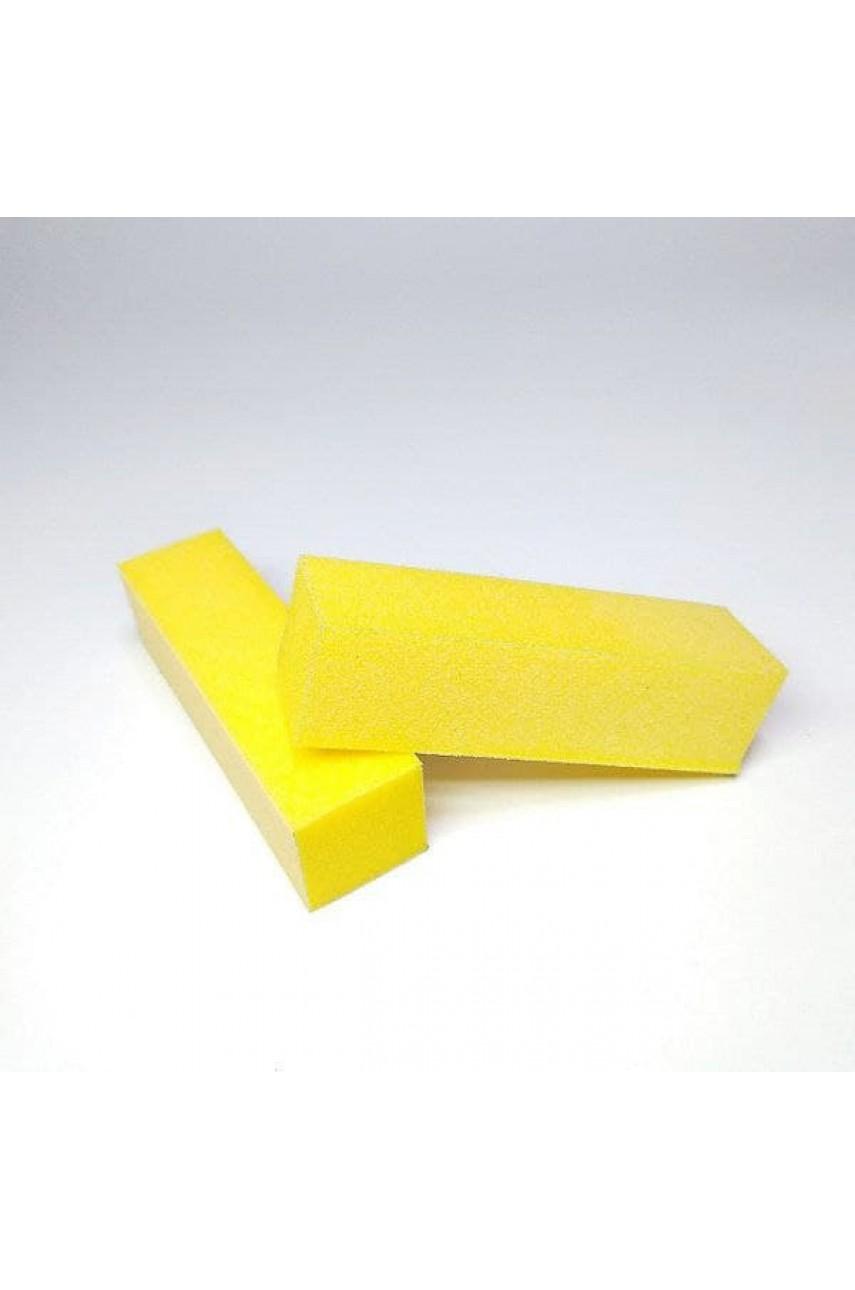 Баф для нігтів - 4-х сторонній, жовтий